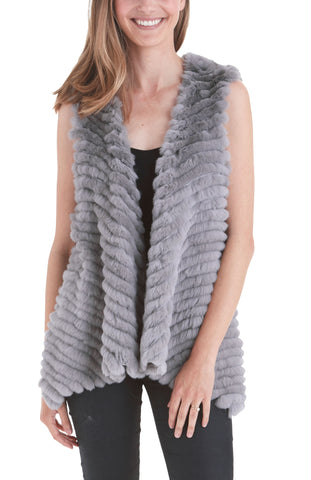 Layla Rabbit Fur Vest