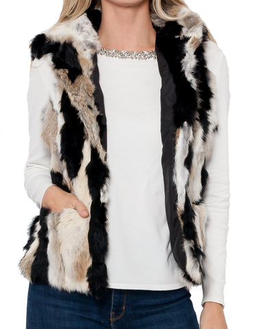 Angela Hooded Fur Vest