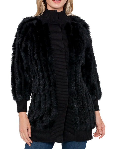Lennox Rabbit Fur Cardigan