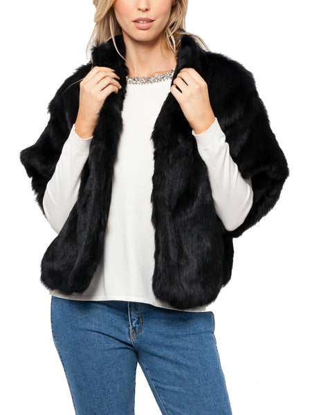 Salem Cropped Rabbit Fur Jacket
