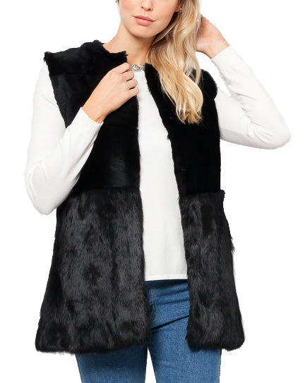 Stacy Rabbit Fur Vest