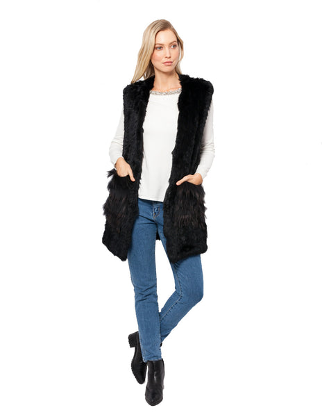 Whitney Rabbit Fur Vest