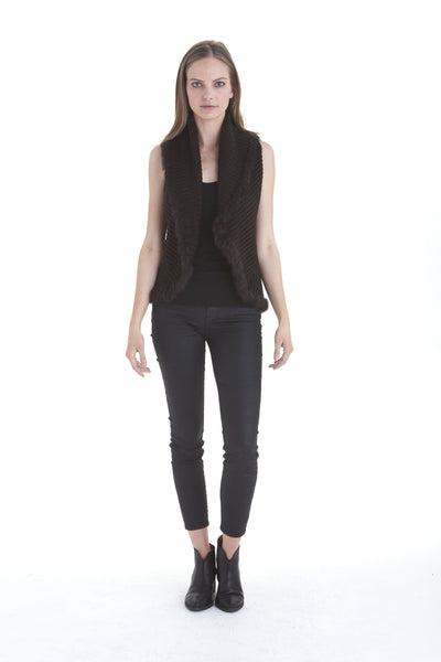 Enzo Knit Vest with Fur Trim | Love Token US