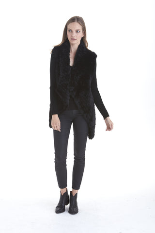 Stitch Faux Fur Cardigan | Love Token US