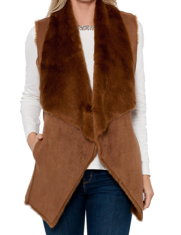 Jorja Faux Fur Reversible Vest