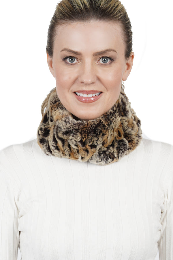 Freda Genuine Real Rabbit Fur Multi-Scarf, Head Wrap Headband