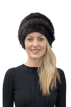 Derick Genuine Real Rabbit Fur Plush Winter Hat