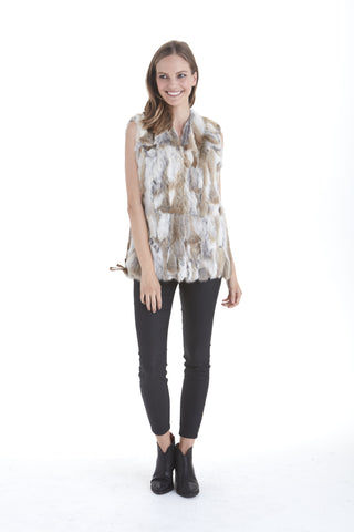 Savannah Fur Vest with Side Ties | Love Token US