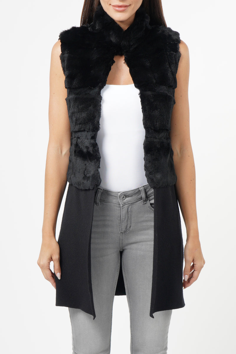 Earl Genuine Rabbit Vest