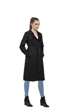 Adrianna Ultra Suede Lightweight Trench Coat
