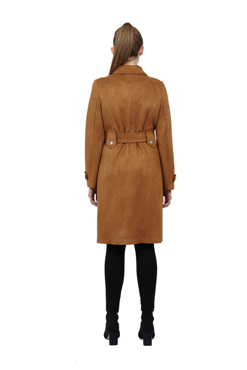 Ulysses Suede Long Trench Coat