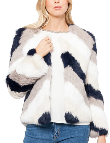 Sam Cropped Rabbit Fur Jacket