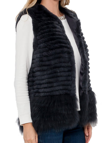 Vada Rabbit/Fox Fur Vest
