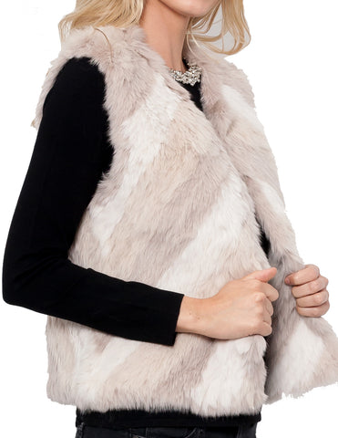 Julianne Rabbit Fur Vest