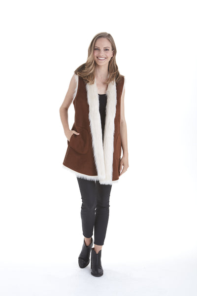 Reagan Faux Vest | Love Token US