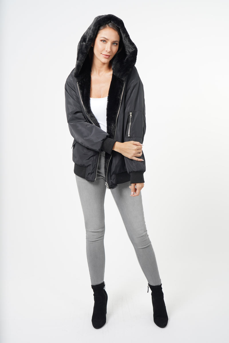 Penelopy Reversible Faux Fur Jacket