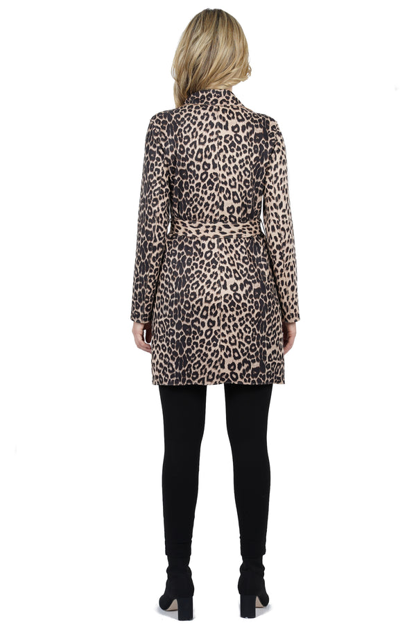Malaysia Suede Leopard Print Coat Jacket