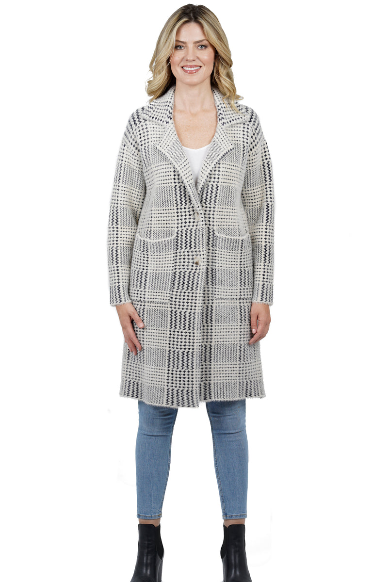 Zendaya Below Knee Length Coat w/ Patch Pockets
