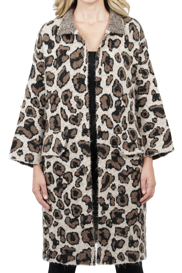 Lainey Animal Knit Cardigan