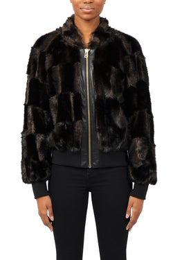 Tina Faux Fur Bomber Jacket