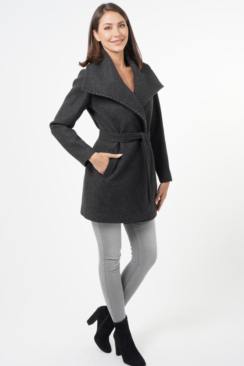 Esmeralda Drape Collar Coat
