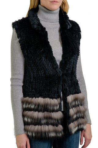 Nico Rabbit + Fox Fur Vest