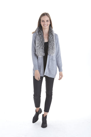 Kate Cardigan with Fur Collar | Love Token US