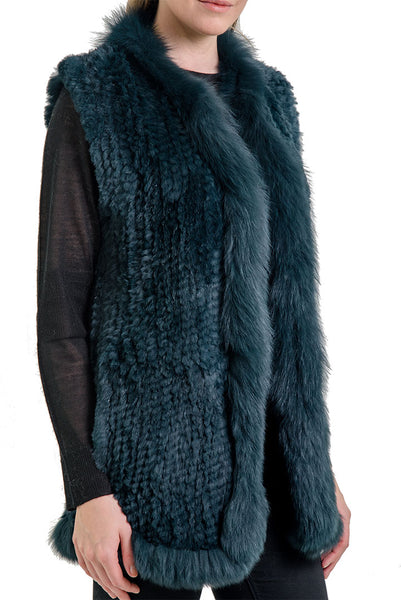 Vera Rabbit + Fox Fur Vest