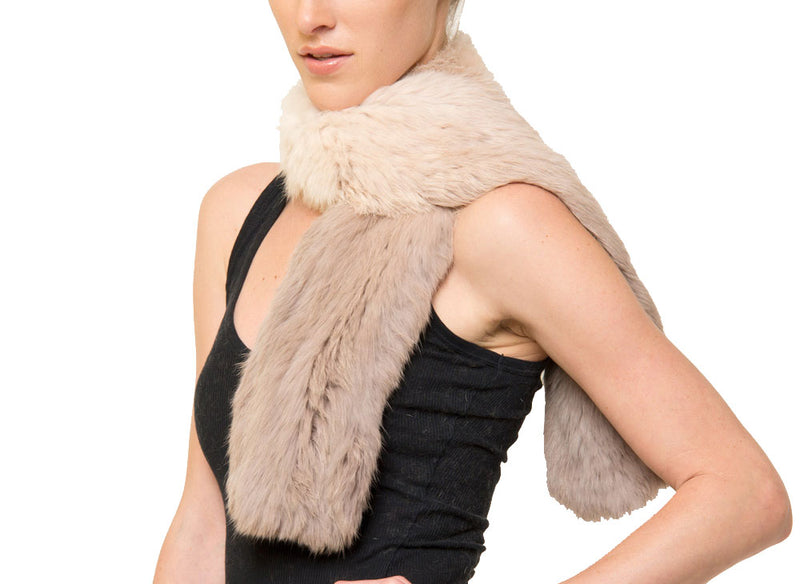 Julian Rabbit Fur Ombre Scarf