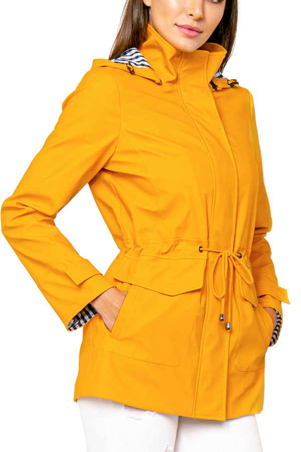 Derek Hooded Trench Rain Coat