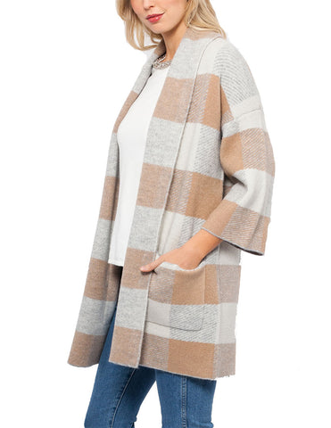 Macy Plaid Cardigan