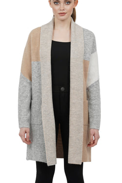 Magnolia Color Block Open Cardigan Jacket