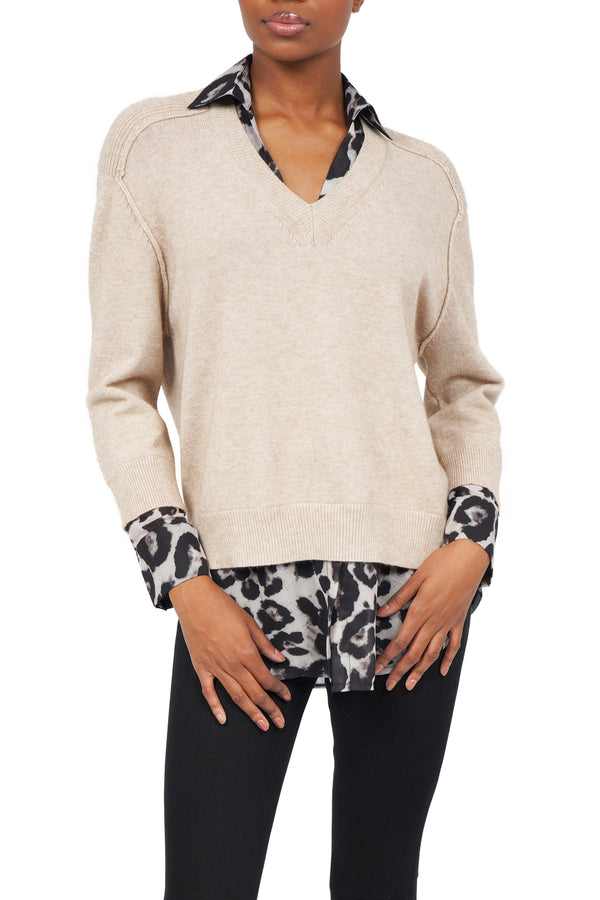 Beverly Layered Look Sweater