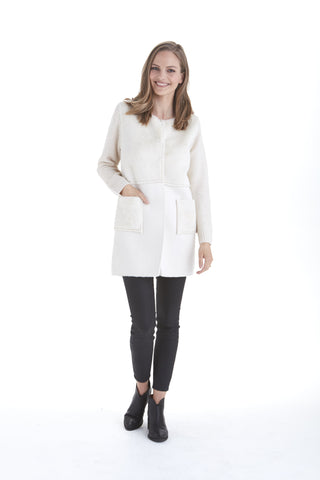 Nicole Knit Sleeves Jacket | Love Token US