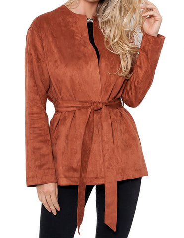 Melina Faux Suede Jacket