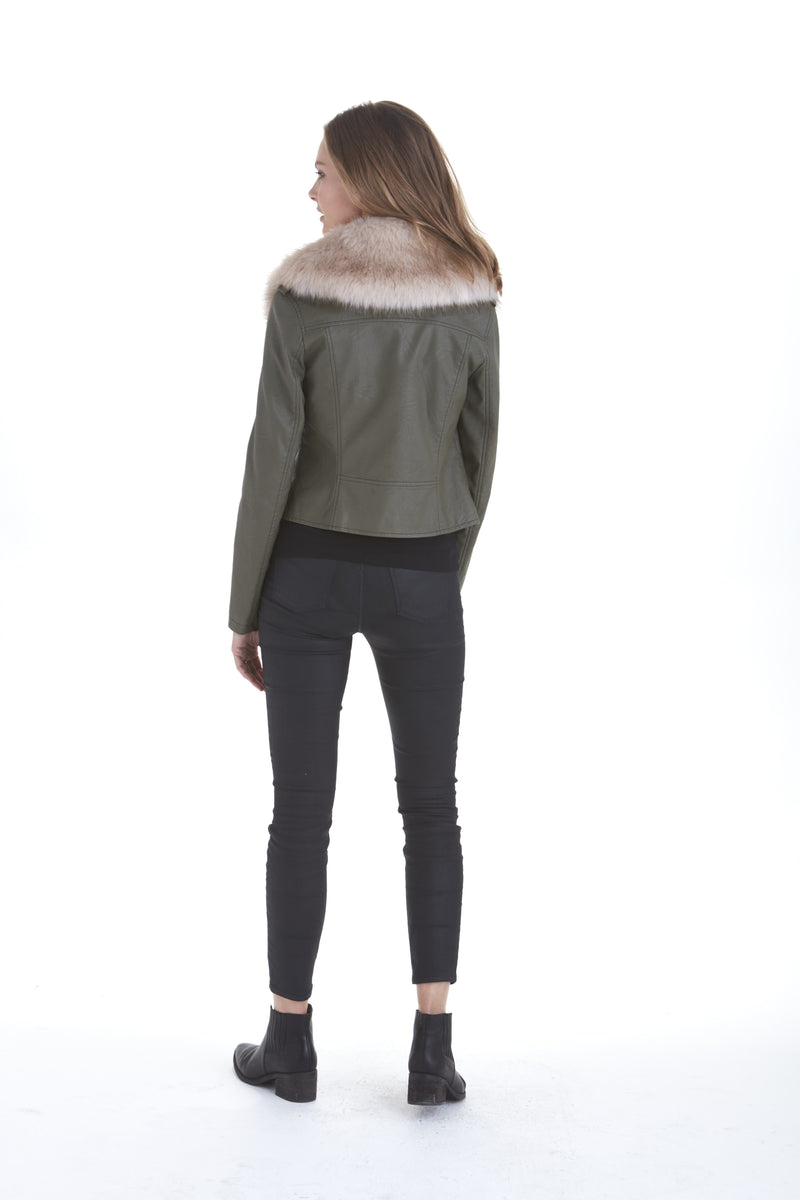 Faux Fur Collar Jacket | Love Token US