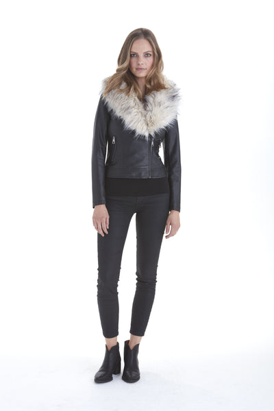 Shea Faux Fur Collar Jacket | Love Token US