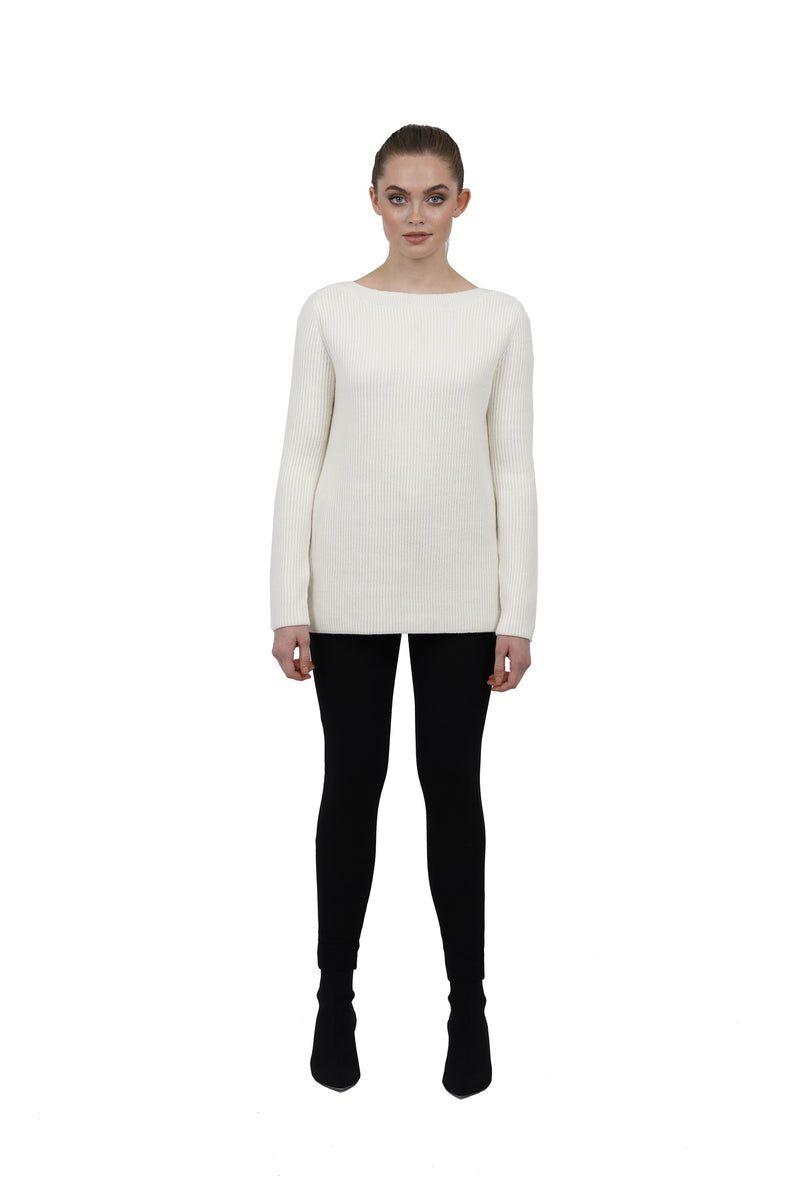 Sylvia Slit Knit Jumper Top