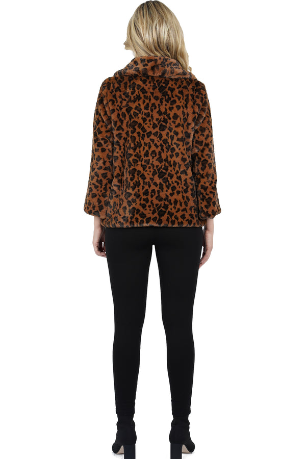 Willowdean Faux Fur Leopard Jacket