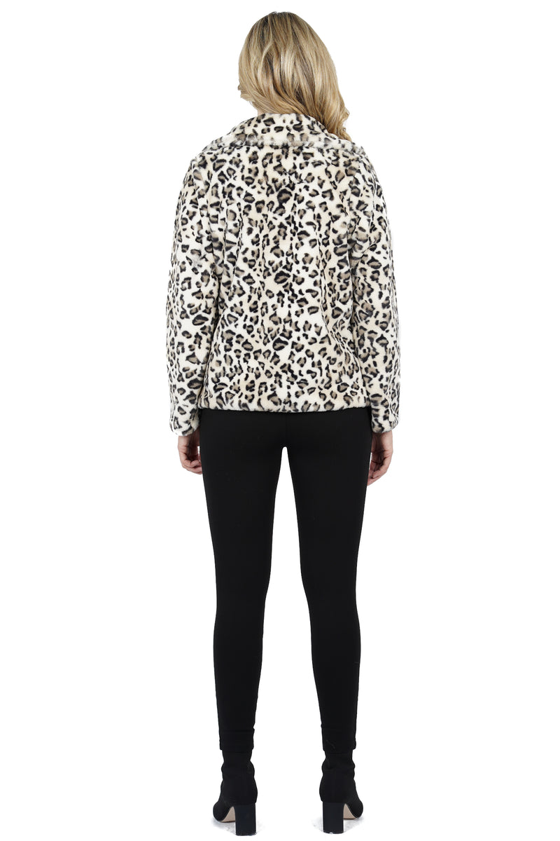 Maverick Faux Fur Leopard Jacket
