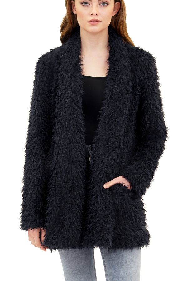 Missy Faux Fur Mongolian Plush Jacket Coat