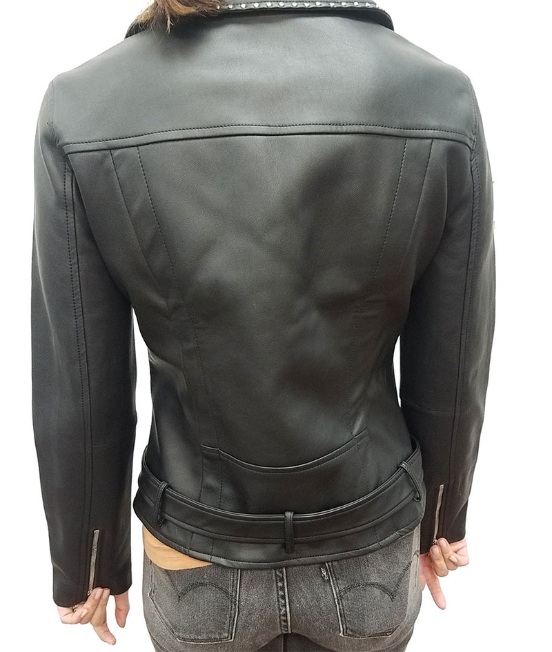 Jonah Vegan Faux Leather Moto Biker Jacket Coat