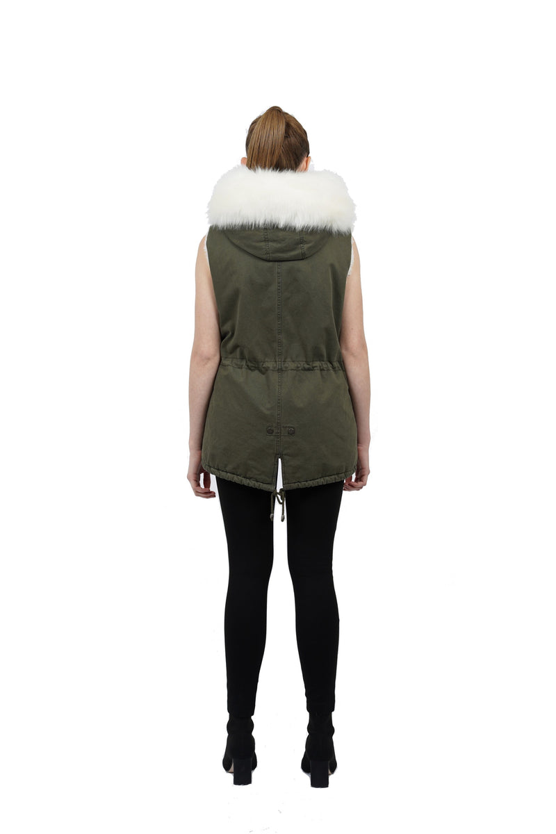Phoebe Faux Fur Ultra Plush Hooded Vest