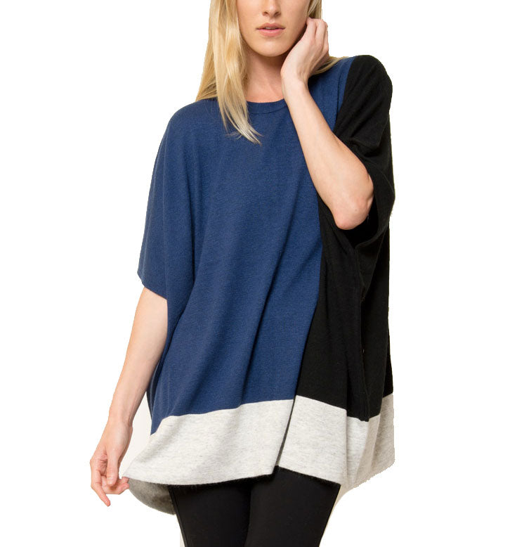 Jake Color Blocked Poncho