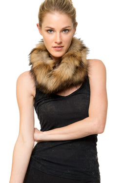 Andy Genuine Real Raccoon Fur Snood