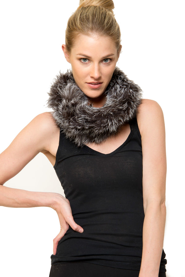 Lizzet Genuine Real Raccoon Fur Snood