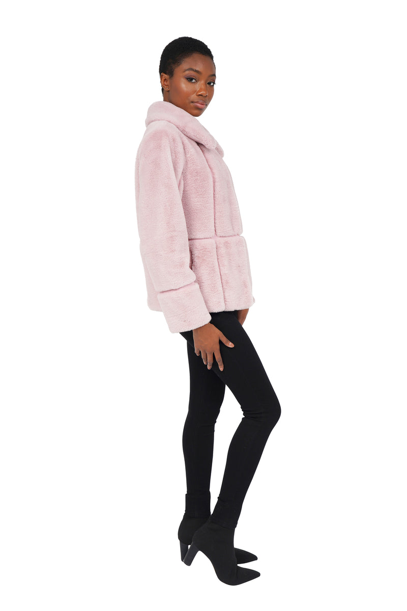 HARRIS FAUX FUR PANEL JACKET