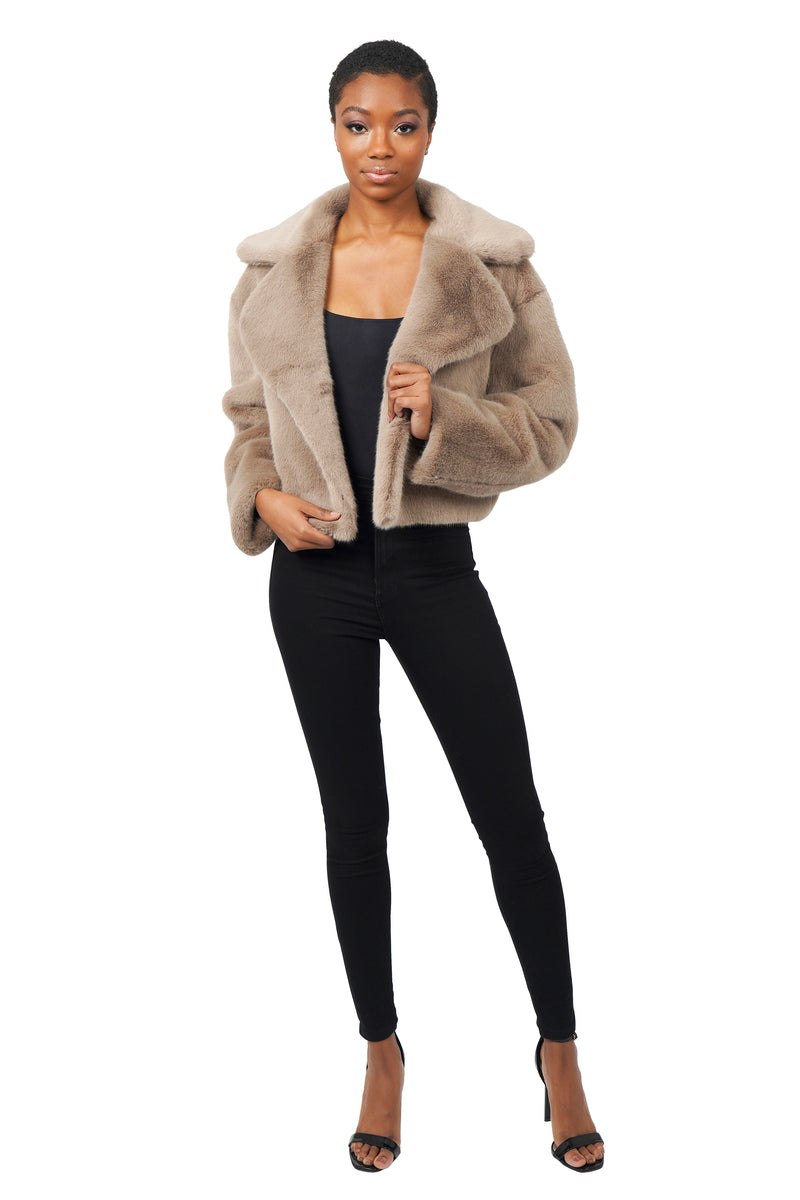 HENRY FAUX FUR CROP JACKET