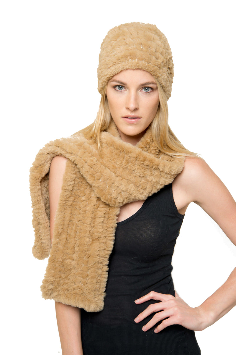 Carmela Faux Fur Hat & Scarf Set