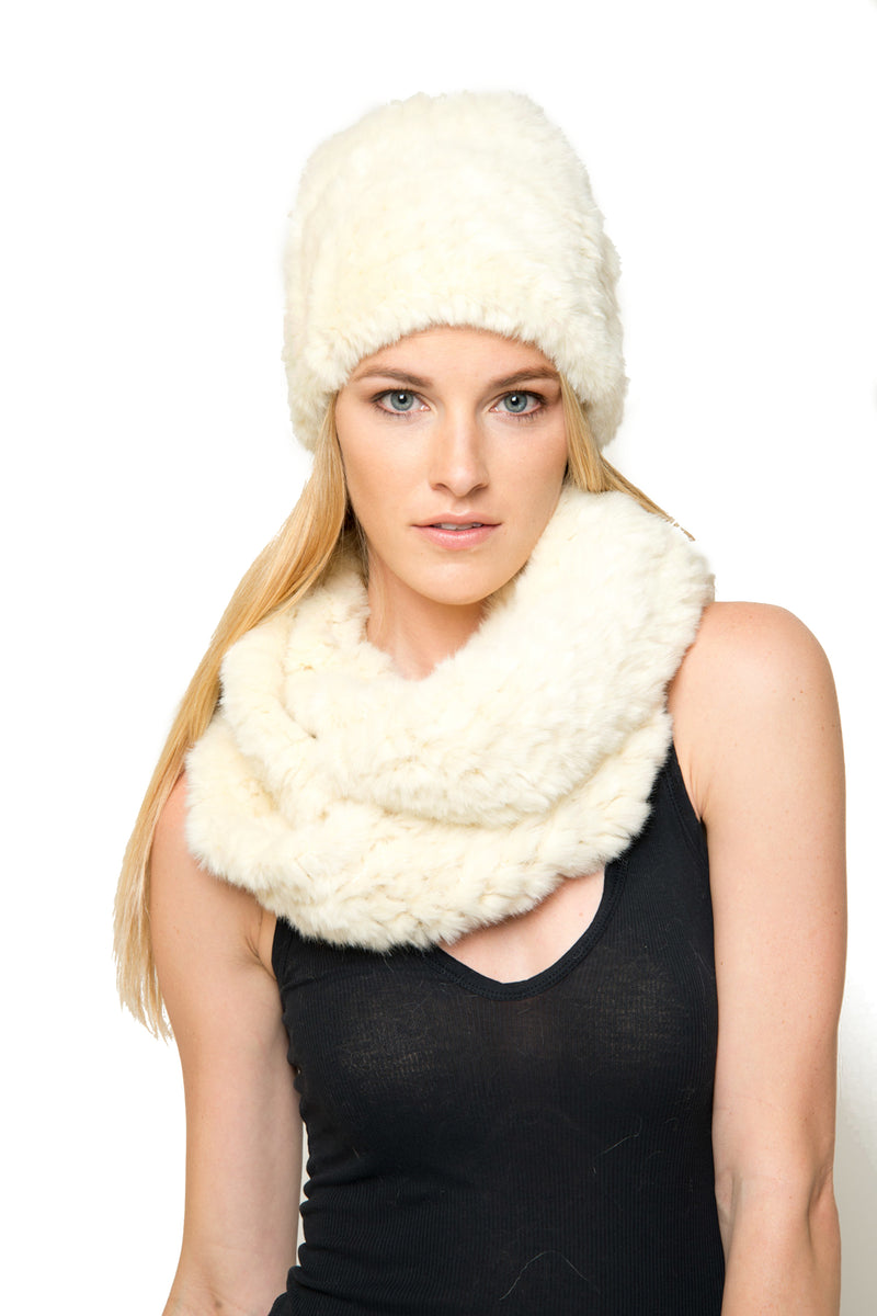 Evelina Faux Fur Hat & Scarf Set